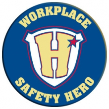 Workplace Safety Hero Pin
