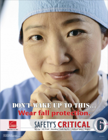 Wear fall protection - Safety's Critical