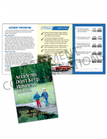 Accident Prevention/24-7 Safety Pocket Guide with Quiz Card