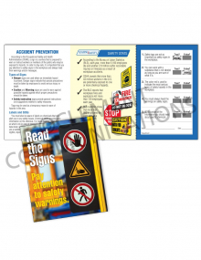 Accident Prevention/Signs Safety Pocket Guide with Quiz Card