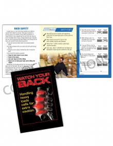 Back Safety/Spine Safety Pocket Guide with Quiz Card