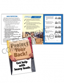 Back Safety/Heavy Box Safety Pocket Guide with Quiz Card