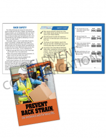 Back Safety/Mechanical Aid Safety Pocket Guide with Quiz Card