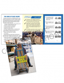 Back Safety – Worker – Safety Pocket Guide with Quiz Card