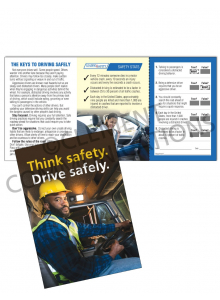 Driving Safely – Think Safety – Safety Pocket Guide with Quiz Card
