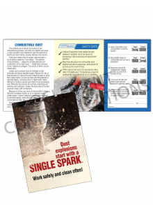 Combustible Dust – Spark – Safety Pocket Guide with Quiz Card