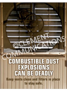 Combustible Dust – Fan – Poster