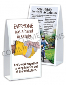 Accident Prevention/Hands Table-top Tent Cards