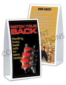 Back Safety/Spine Table-top Tent Cards