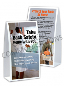 Back Safety – Home – Table-top Tent Cards