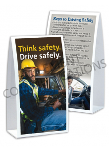 Driving Safely – Think Safety – Table-top Tent Cards