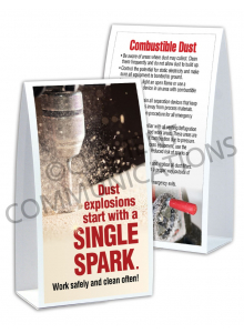 Combustible Dust – Spark – Table Top Tent Card