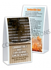 Combustible Dust – Fan – Table Top Tent Card