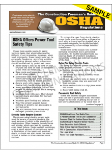 The Construction Foreman's Guide To OSHA Regulations™  Newsletter - Electronic