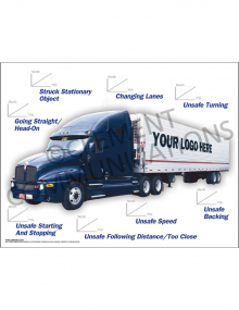 Accident Tracking Poster - Long Haul Truck