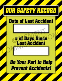 Accident Tracking Poster