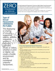 Sexual Harassment - Offensive Pictures Poster