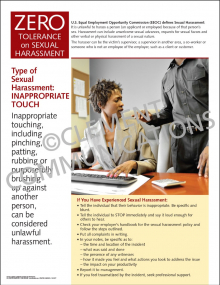 Sexual Harassment - Inappropriate Touch Poster
