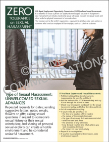 Sexual Harassment - Unwelcomed Sexual Advances Poster