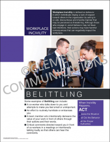 Workplace Incivility - Belittling Poster