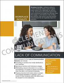 Workplace Incivility - Lack of Communication Poster