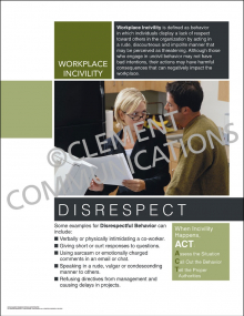 Workplace Incivility - Disrespect Poster