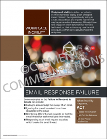 Workplace Incivility - Email Response Failure Poster