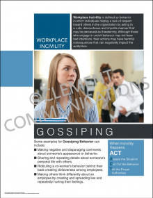 Workplace Incivility - Gossiping Poster