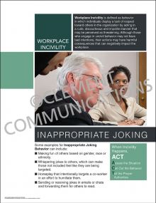 Workplace Incivility - Inappropriate Joking Poster