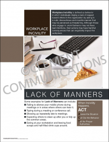 Workplace Incivility - Lack of Manners Poster