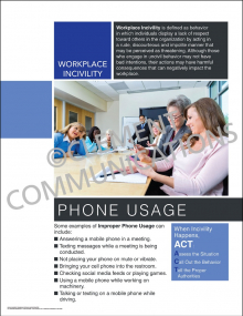 Workplace Incivility - Phone Usage Poster