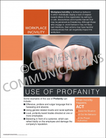Workplace Incivility - Use of Profanity Poster