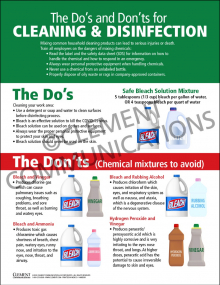 The Do's and Don'ts for CLEANING & DISINFECTION Infographic Poster