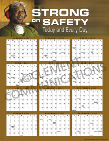 Strong on Safety 2021 Calendar Poster