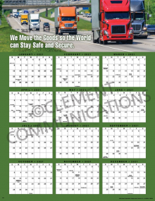 We Move the Goods 2021 Calendar Poster