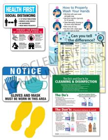 COVID Manufacturing Response Signage Kit
