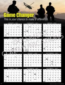 Game Changer 2021 Calendar Poster