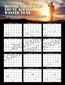 Become the Person 2021 Calendar Poster