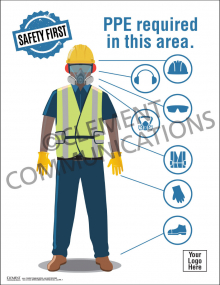 Safety First PPE Poster