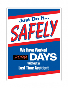 Motivational Safety Scoreboards - Just Do It Safely