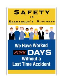Motivational Safety Scoreboards - Safety Is Everybody's Business