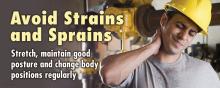 Avoid Strains and Sprains