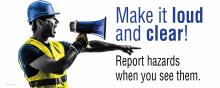 Reporting Hazards Banner