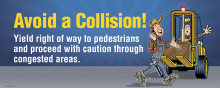 Forklift Collision Banner