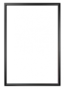 """23.75"""" x 30.75"""" Black Snapframe with Acrylic Cover"""