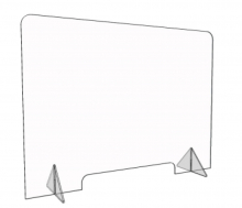 Freestanding Plexiglass Sneeze Guard