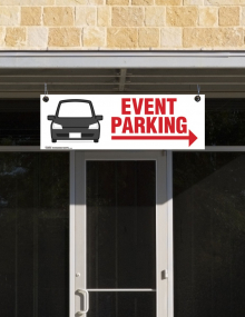 Event Parking Corrugated Ceiling Sign