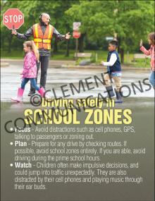 Driving in School Zone Poster
