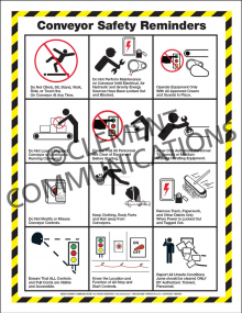 Conveyor Safety Infographic Poster