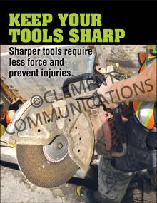 Keep Tools Sharp Poster